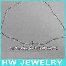 Sideway cruz collar de plata/collar de plata 925/cruzada de sideway