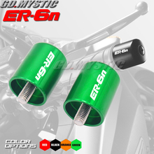 Motorcycle Accessories CNC Handlebar Grips Bar Ends Cap Slide Laser Logo For KAWASAKI ER6N ER-6N ER 6N ER6 N 2009-2017 стоимость