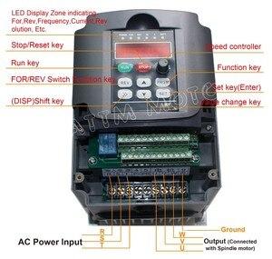 Image 5 - כיכר 3KW ER20 אוויר מקורר ציר מנוע 4 מסבים & 3kw VFD מהפך כונן 220V עבור CNC נתב חריטה כרסום מכונת