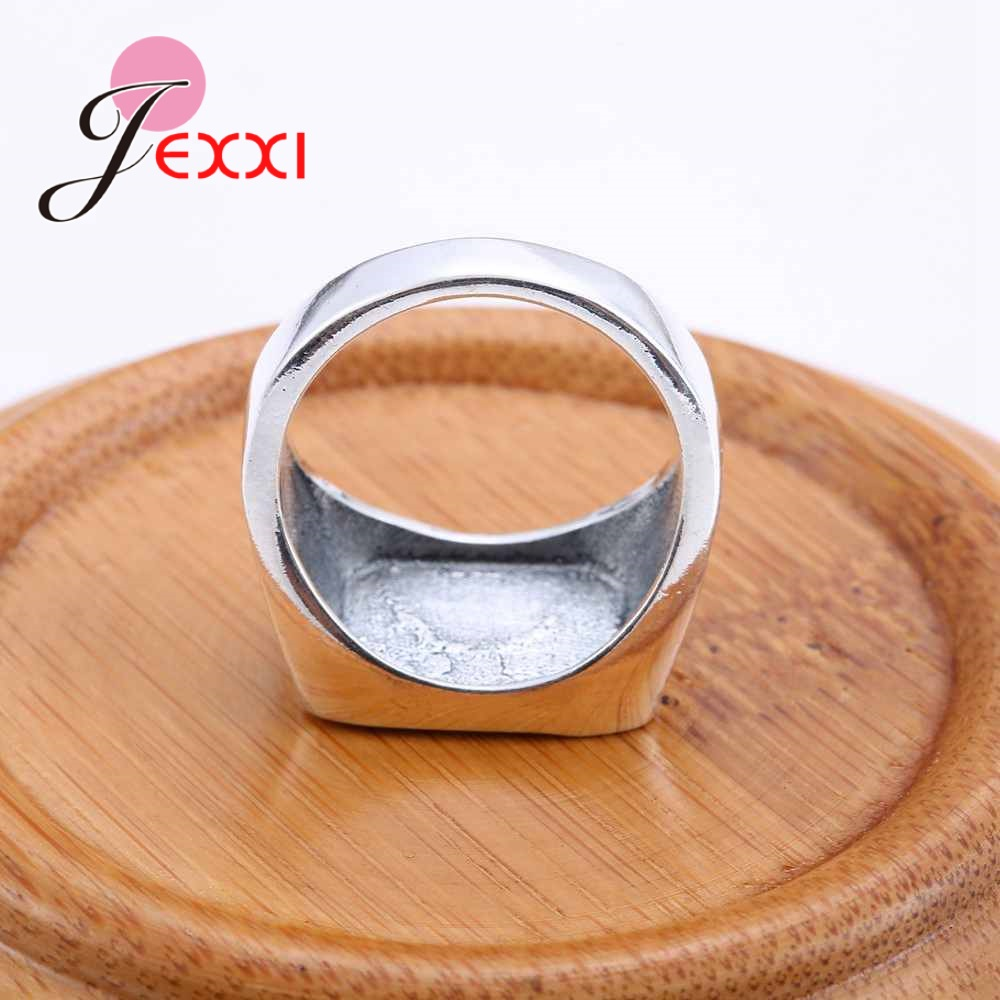 JEXXI 2018 New Arrival Mystic Punk Style Men Women Cross Wide Finger Ring for Party Gift Promotion 925 Sterling Silver Jewelry