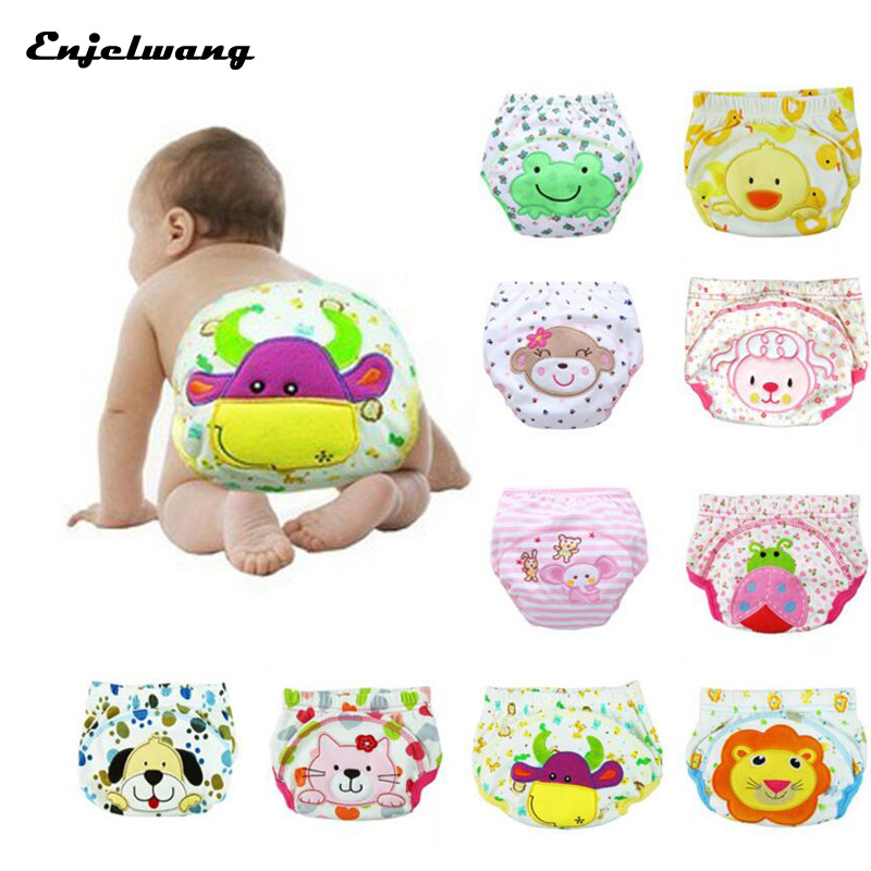 Inwrought Infant Baby Training Pants Cotton Potty Panties Reusable Toddler Diaper Underwear Cowards 20Pcs