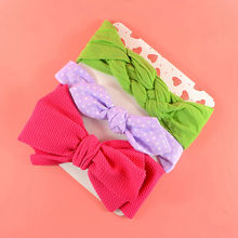 Baby Nylon Headband Set Newborn Shower Gift Toddler Top knot Head wrap Infant Bowknot Girl Gift Knotted Headbands HB298S plus knot side botanical wrap top