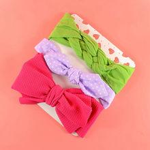 Baby Nylon Headband Set Newborn Shower Gift Toddler Top knot Head wrap Infant Bowknot Girl Gift Knotted Headbands HB298S недорого