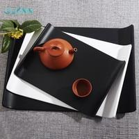 Plastic Fast Food Tray Restaurant Serving Trays For Tea/Cake Kitchen Bar Dinnerware European High grade Tea Cup Wheel Slip