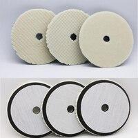 6 inch Wool Plush Polishing Discs Felt Grinding Wheel Head Self-adhesive Buffing Sponge Pad For Car Accessories Machine Polisher