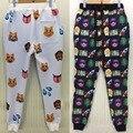 Emoji/100 Точка/Животное Emojis/Доллар 3D Печатные Тренировочные брюки, А Также Размер Мужские Брюки, Улица Harajuku Sweatpant, Эластичный Пояс Брюк