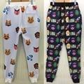 Emoji/100 Pontos/Animal Emoticons/Dólar 3D Impresso Sweatpants, Plus Size Calças Dos Homens, Calças de Rua de Harajuku Sweatpant, Calças de Cintura Elástica