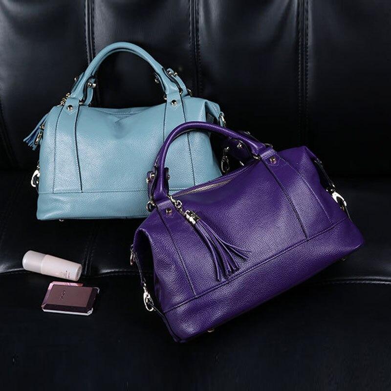 여자 가방 대형 패션 럭셔리 핸드백 가방 100% 정품 가죽 핸드백-에서탑 핸드백부터 수화물 & 가방 의  그룹 1