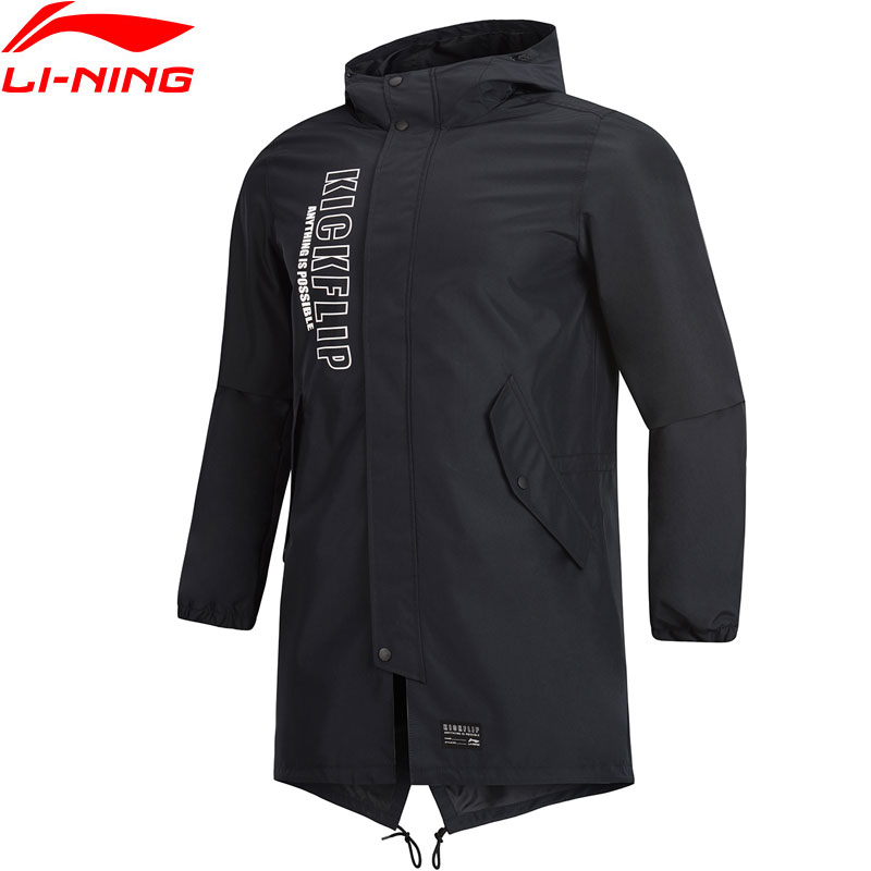Li Ning Men The Trend Trench Polyester Regular Fit Windbreaker Jacket LiNing Sports Hooded Wind Jackets