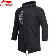 Клиренс) Li-Ning мужчины тренд Тренч Стандартная посадка ветровка куртка подкладка спортивные куртки с капюшоном пальто AFDP023 MWF386