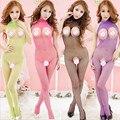 Mujeres sexy lencería sexy teddies bodystockings entrepierna abierta transparente/body luru red whole body calcetines juguetes sexuales
