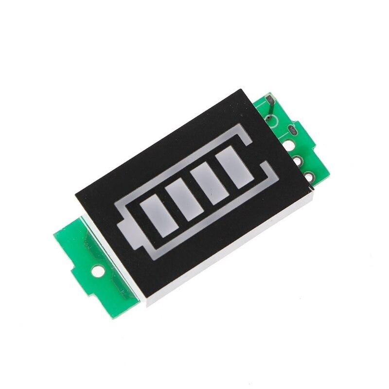 Bildschirme Unterhaltungselektronik 1 S Einzel 3,7 V Power Level Lithium-batterie Kapazität Blau Display Anzeige Modul Ohne Fall Version