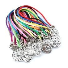 50pcs Our Lady of Perpetual Help with Saint Gerard  Pendants Chinese knot wire Bracelet handmade DIY Jewelry Party Gifts C-15