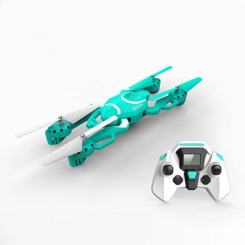 QZ S8 Wifi FPV 720P HD Camera Foldable 4CH RC Quadcopter Drone w/ One Key Return & Altitude Hold Function & Colorful Light