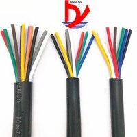 РВВ кабель черный 26AWG 0.12MM2 RVV 2/3/4/5/6/7/8/10/12/14/16/20 сигнальная линия медный провод