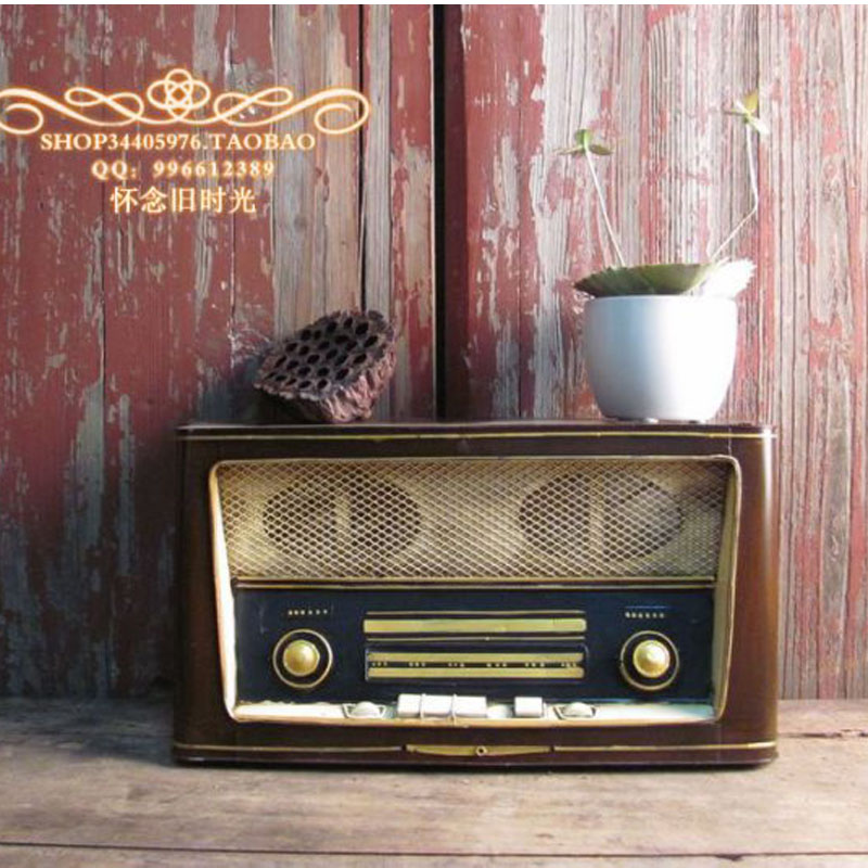 1 1 Vintage Antique Style Radio Machine Projection Machine Models Home Decor Iron Crafts