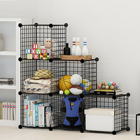 Wire mesh magic supply creative home combination storage cabinet, free DIY home steel wire storage rack storage box 5PCS /Set