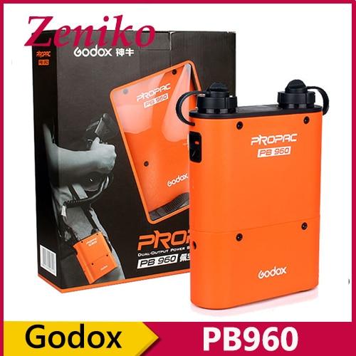 Godox PROPAC PB960 4500mAh Dual-Output Speedlite Flash Power Battery Pack for Canon Nikon SONY GODOX ad300 ad180 YONGNUO godox pb960 dual output flash battery power pack 4500mah adapter cable for canon nikon sony godox yongnuo flash black