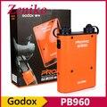 Godox propac pb960 batería 4500 mah doble salida de potencia del flash speedlite para canon nikon sony godox yongnuo ad180 ad300