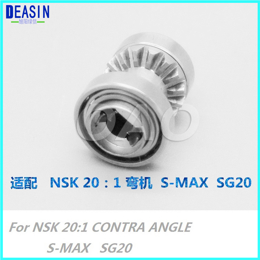 Implant 20:1 Contra Angle Handpiece Middle Gear For SG20 centre shaft spare parts dental cordless endo motor treatment 16 1 reduction contra angle