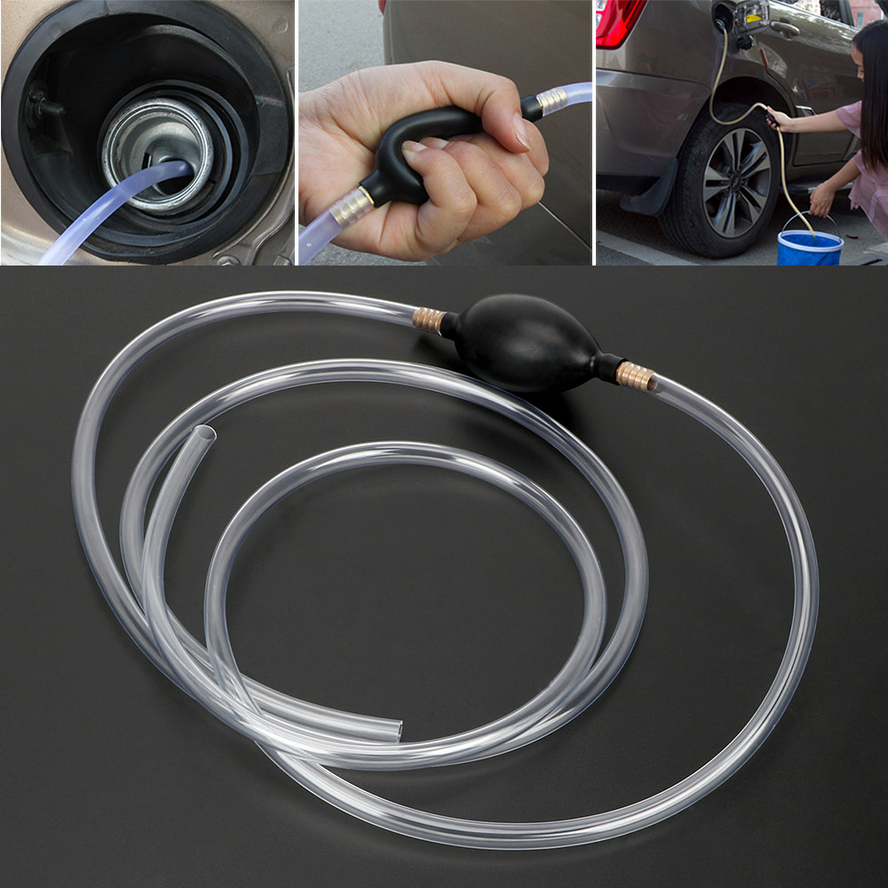연료 보호기 자동차 연료 가스 펌프 물 오일 전송 펌프 자동차 액세서리 가솔린 디젤 액체 수동 펌프 사이펀 PVC 파이프