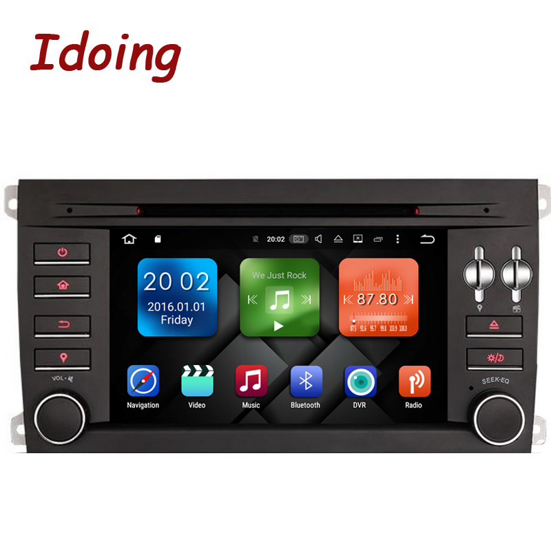 Idoing Android6 0 2G 32G 8Core For Porsche Cayenne 2Din Car DVD Player Multimedia Video Device