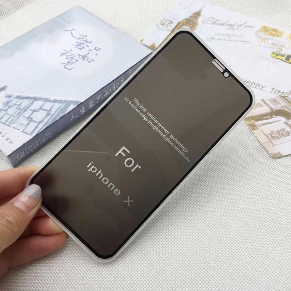 new product 19f69 3b61e Best Quality High Dentifined Privacy Screen Protector for iPhone X XS MAX  XR 9H 2.5D Full Tempered Glass Anti Glare Spy Peeping