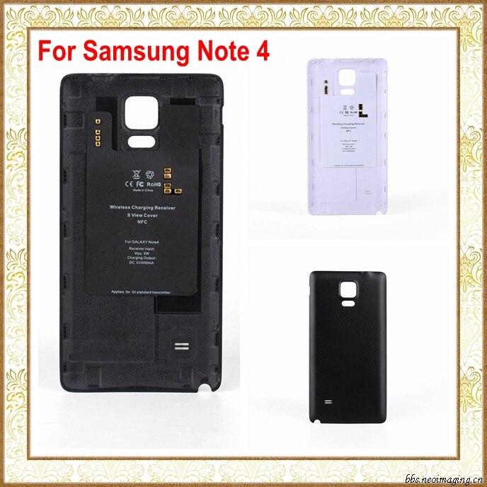三星note3 nfc_Black/White Qi Wireless Charging Receiver Case with NFC for Samsung Galaxy Note 4 ...