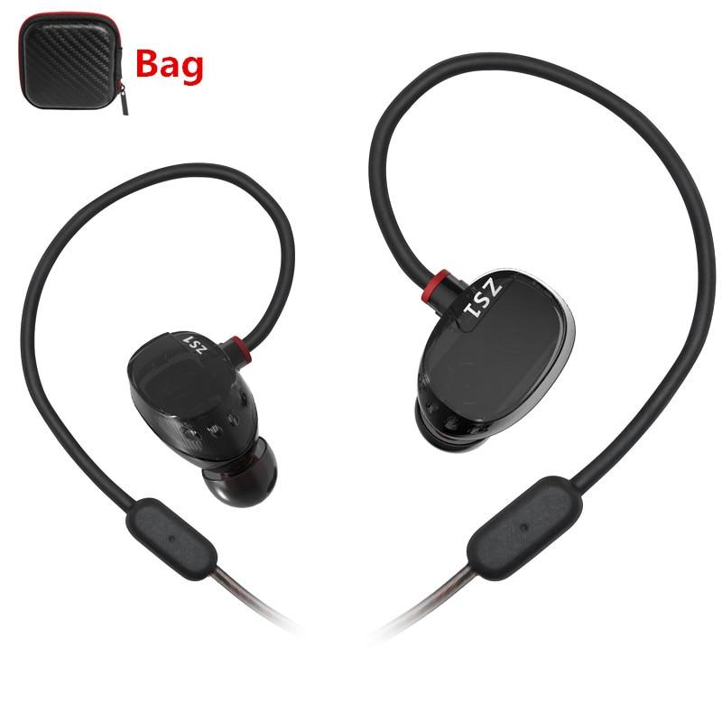 New KZ ZS1 Earphones with MIC Dual Driver Earphones Stereo HIFI Headset 100 original KZ In