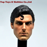 1/6 Scale 1978 Christopher Reeve Superman Head Sculpt Head Carving Model Collectible Doll Toys Accessories