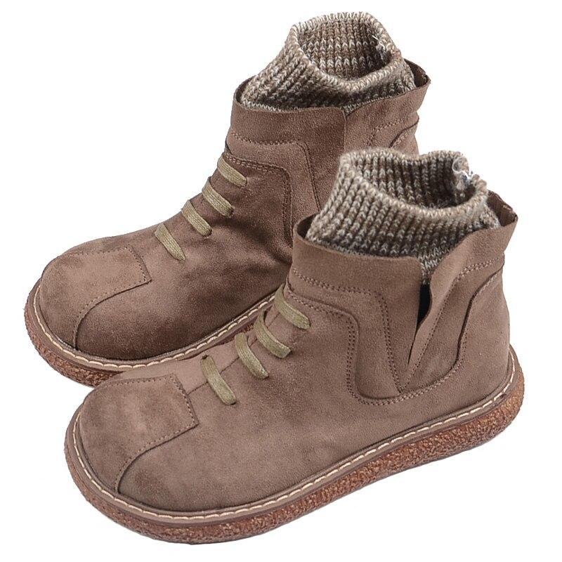 Mori littéraire rétro fond épais cheville bottes Japonais grosse tête poupée chaussures 2018 hiver nouveau Martin boot Harajuku style court boot