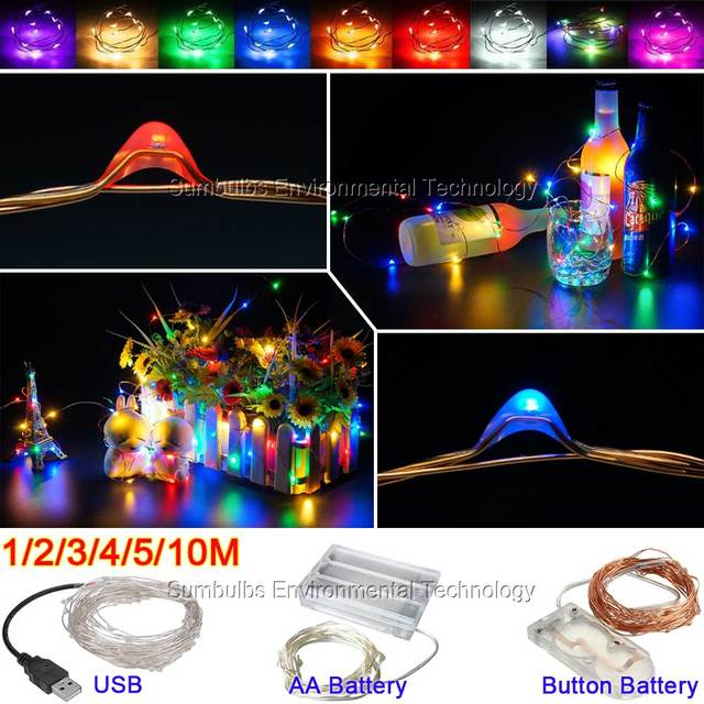 1m 10m led string light usb battery powered cooper wire fairy 1m 10m led string light usb battery powered cooper wire fairy christmas lights multi aloadofball Image collections
