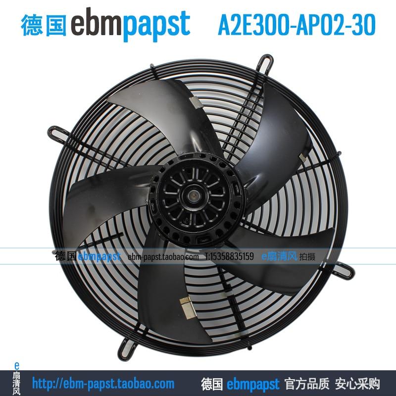 Original new ebm papst A2E300-AP02-30 AC 230V 1.1A 1.55A 253W 256.5W 300x300mm Outer rotor fan new original ebm papst iq3608 01040a02 iq3608 01040 a02 ac 220v 240v 0 07a 7w 4w 172x172mm motor fan