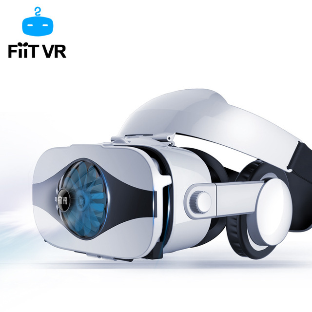Fiit VR 5F headset version Fan cooling virtual reality glasses 3D glasses Deluxe Edition helmets smartphone Optional controller 2