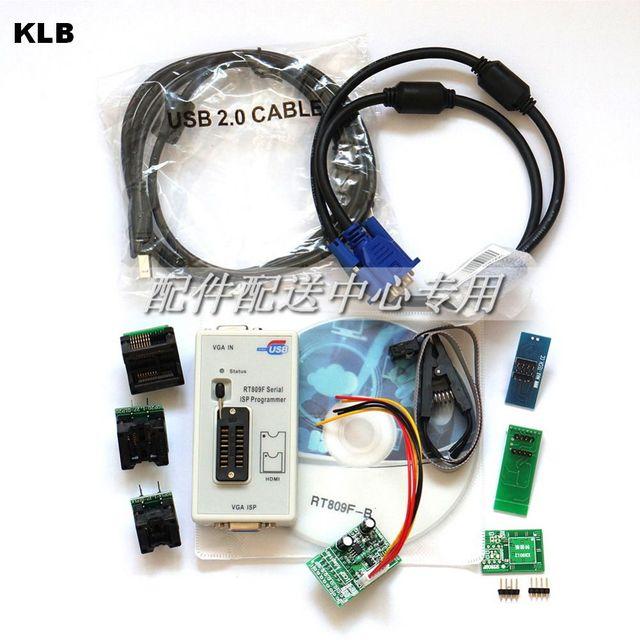 RT809F Programmer +7 Adapters+SOP16 SOP20 IC Clip Motherboard Reader LCD BIOS ISP/ USB/ VGA w/ Engilsh Softerware