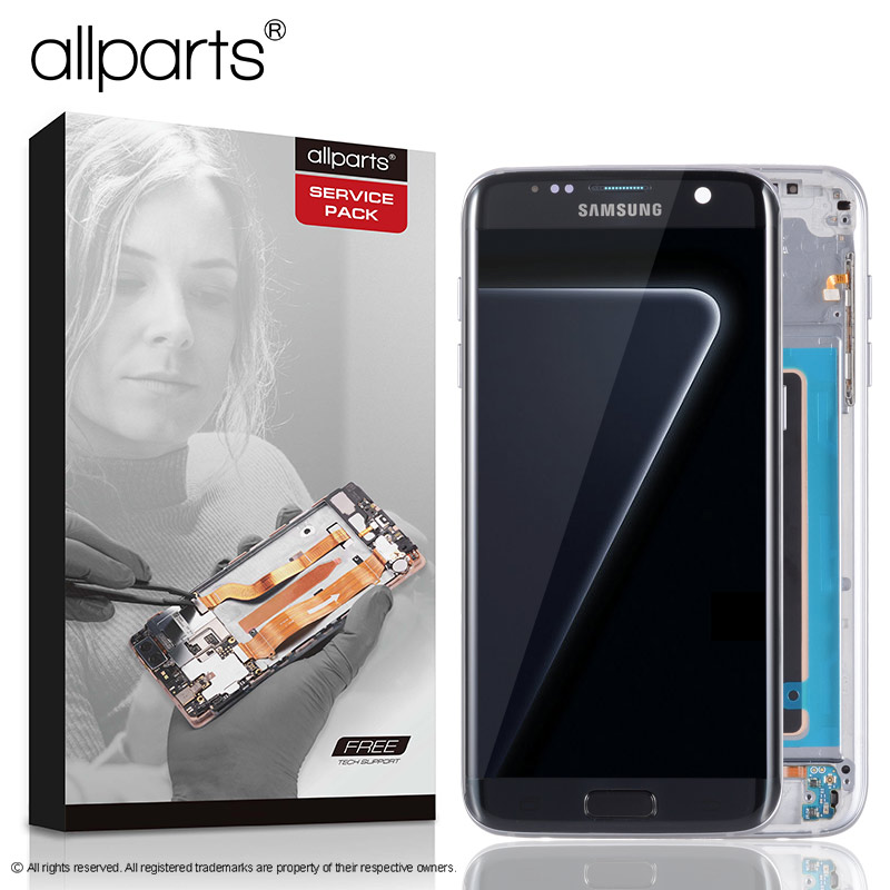 5,5 ORIGINAL AMOLED S7 rand Display Für SAMSUNG Galaxy S7 Rand Screen Display Touch mit Rahmen Für SASMSUNG S7 Rand LCD G935F