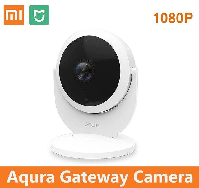 US $15 0 |Xiaomi Mijia Aqara smart ip camera with Gateway 1080P Hub  Function Linkage Alarm 180 Degree FOV Mi Smart Home Voice Interphone-in  360° Video
