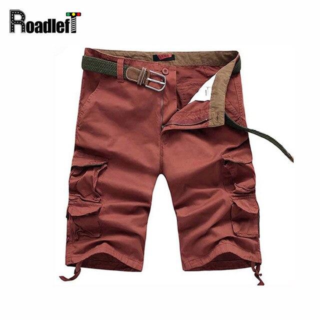 Brand 2017 Summer Style Shorts Men Plus Size 40 Calf-Length Cargo Shorts  Multi-