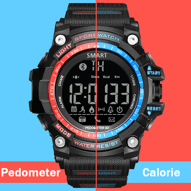 Sport Digital Watches Men Pedometer Calorie Led Bluetooth Electronics  Wristwatch Waterproof Running Relogio Masculino Hodinky 49 b4d24e6c2dc