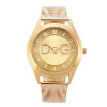 reloj mujer Women Watches Luxury Brand Fashion Gold Mesh Stainless Steel Band Analog Quartz Wrist Watch for women kadin izle women s fashion silica gel band analog quartz round wrist flower dial watch hot for fashion woman silver gold mesh band g23