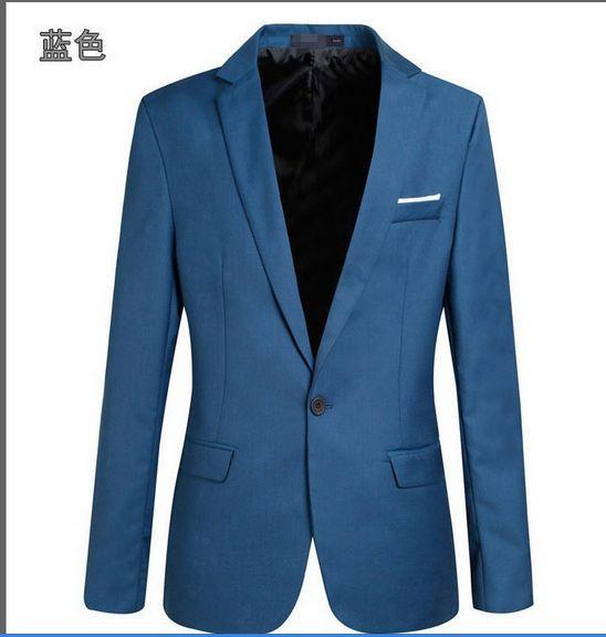 Новое поступление топ костюм для мужчин осенний мужской повседневный Блейзер корейский тонкий пиджак мужской блейзер 6 цветов S-6XL 030602 - Цвет: 2