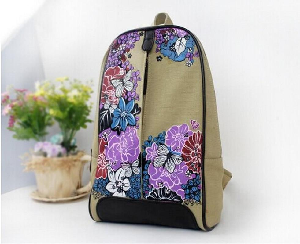 Canvas Rucksack Sırt çantası məktəb kitabı Çin Moda Retro Stil - Bel çantaları - Fotoqrafiya 3