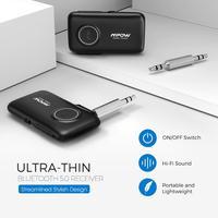 יד מתאם החדש MPOW Bluetooth5.0 מקלט אלחוטי עם CSR Core Audio מתאם באמצעות שיחות יד-חופשית לרכב אור LED ניווט קולי (3)