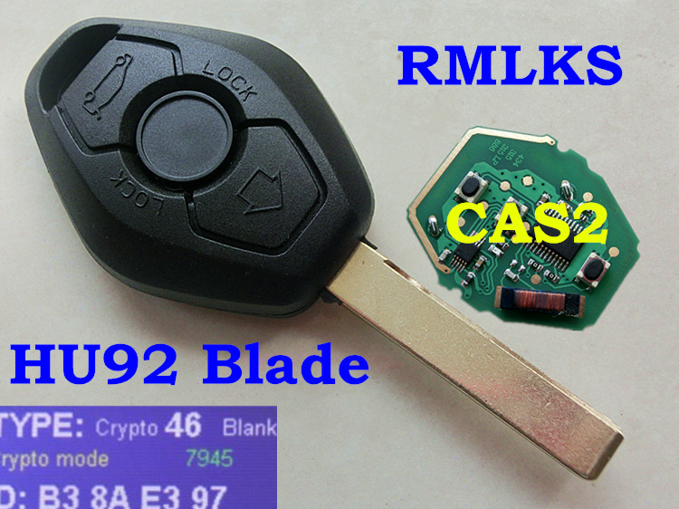 RMLKS 315LP MHZ 315MHz 433MHZ 868MHZ Remote Key PCF7945 ID46 Chip For BMW CAS2 5 series E46 E60 E83 E53 E36 E38 E39 HU92 Blade