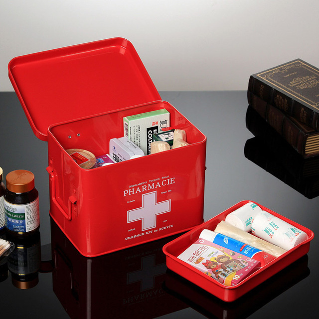 US $96 89 |Taiwan brand authentic family home medicine chest medicine box  Drug storage box with first aid box number red shipping trong Taiwan brand