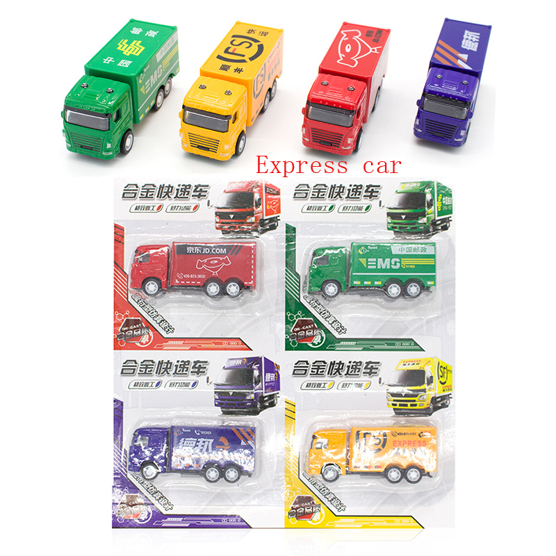 3 Style Plastic And Zinc Alloy Mini Car Express Car Bus Toy Pull Back Car Diecast Vehicles Model for Boy Birthday Gift For Kids