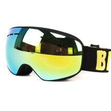 Новый Профессиональный мальчики девочки сноуборд очки дети лыжные очки двойной uv400 анти-туман лыжные очки маска 4-15 лет