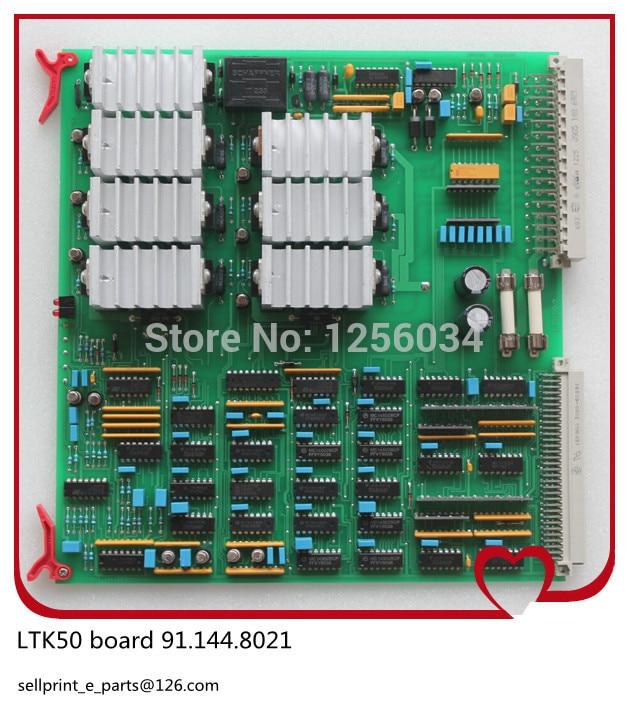4 pieces LTK50 water reel drive circuit board 91.144.8021, LTK 50 board, LTK-50 printing board 1 pcs high quality heidelberg parts new board ltk50 91 144 8021 01a water reel drive circuit board ltk 50 91 144 8021