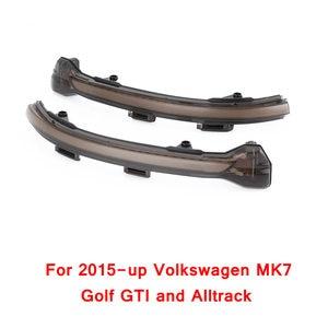 Image 3 - 2 cái đối với VW Golf MK7 7.5 7 GTI R GTD Năng Động Blinker LED Bật Tín Hiệu Cho Volkswagen Rline Sportsvan touran Side Gương Ánh Sáng