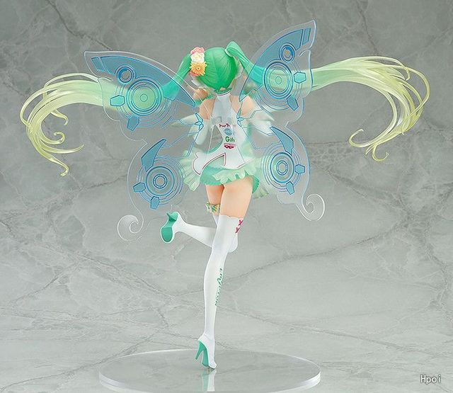 Japanese Anime Hatsune Miku Action Figure Racing Miku Toy Dolls Pvc Butterfly Miku Model Gift no retail box (Chinese Version) 4